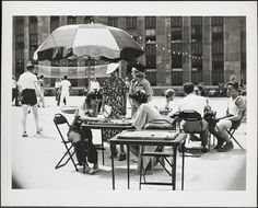 Nothing says summer like relaxing on a rooftop, and nothing says New York City like the Radio City Music Hall.  Combine them both, and *poof* a picture of summer in the city in 1935.  #TimeTravelTuesday  Photograph Information:  Wurts Bros. (New York, N.Y.) 1260 Sixth Avenue. Radio City Music Hall. Roof, leisure time  DATE:1935