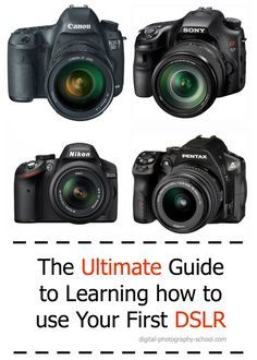 The Ultimate Guide to Learning how to use Your first DSLR #photography #camera http://digital-photography-school.com/megapost-learning-how-to-use-your-first-dslr/