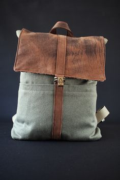 Grump Gabu, hand made, upcycled, hipster, backpack, ethical fashion, recycled leather, upcycled leather, scandinavian design, scandinavia fahion, sustainable, boho, leather, canvas, traveller bag, travelling
