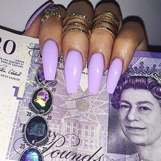 In seek out some nail designs and ideas for the nails? Here is our list of 40 must-try coffin acrylic nails for stylish women. Fabulous Nails, Gorgeous Nails, Pretty Nails, Sexy Nails, Dope Nails, Stiletto Nails, Manicure, Acryl Nails, Lavender Nails