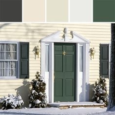 How to Select an Exterior Door Color With Almond Siding