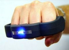 The Knuckle Blaster Stun Gun!!!         Yes it's real when it comes to delivery method,  punching someone or something, in order to survive there's three tiers of awesomeness:  1)Bare fist:  2)Fist coated in brass knuckles:  3)Fist coated in Reinforced knuckles juiced up to deliver a nasty surprise of *950,000 volts of blue lighting upon impact★ It's sure to put the threat down!