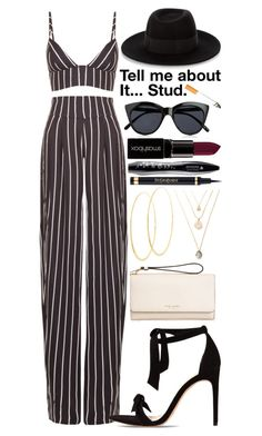"""Tell me about it... Stud."" by ockey-33 ❤ liked on Polyvore featuring Movado, Alexandre Birman, Henri Bendel, Lana, Maison Michel, Yves Saint Laurent, Lancôme, Smashbox, Le Specs and Forum"