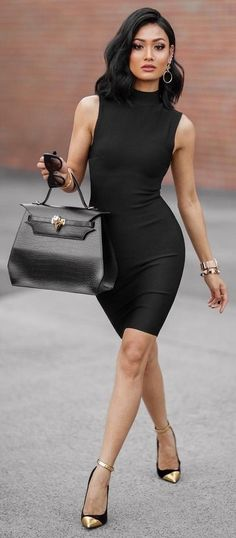 #Street #Fashion | All Everything Black + Touch Of Gold Outfit Idea |Micah Gianneli