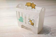 Stampin Up Babybett - Wiege - zur Geburt -Biene - Für Himmelsstürmer - Something for Baby - aquamarin - pfirsich pur - http://dini.derschnipselgecko.com/category/meine-kreationen/category/meine-kreationen/baby/ DerSchnipselGecko.de