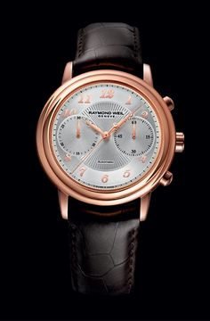 With a classic allure, elegantly colored materials and modern dial design RAYMOND WEIL Maestro Collection, a new Chronograph (PR/Pics http://watchmobile7.com/articles/raymond-weil-maestro-collection-new-chronograph) (2/2)