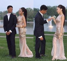 Champagne Prom Dress with Beading Mermaid Prom Dress Long Formal Party Gown 71106 Prom Pictures Couples, Prom Couples, Couple Pictures, Mermaid Prom Dresses, Homecoming Dresses, Cheap Dresses, Formal Dresses, Wedding Dresses, Party Gowns