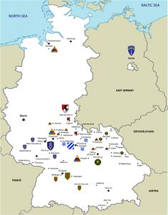 Map Us Army Bases In Germany USAREUR Pinterest Army Base - Map of military bases in us