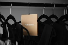 Nude Studio High-end shopping boutique for continuously evolving women. We created all the experience, brand identity & creative direction on the interior design. Store Signage, Retail Signage, Wayfinding Signage, Pop Design, Layout Design, Signage Board, Diy Clothes Hangers, Collateral Design, For Sale Sign