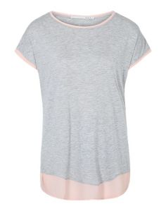 OUI T-Shirt im Layer-Look grau rosa