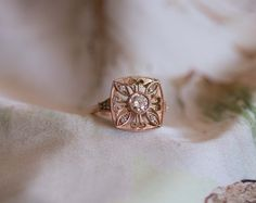 Vintage rose gold diamond ring. Vintage Rose Gold, Vintage Roses, Rose Gold Diamond Ring, Signet Ring, Make And Sell, Wedding Rings, Engagement Rings, Jewelry, Rings For Engagement