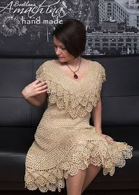 Irish lace, crochet, crochet patterns, clothing and decorations for the house, crocheted. Crochet Dress Girl, Crochet Bodycon Dresses, Crochet Skirts, Crochet Woman, Crochet Blouse, Crochet Clothes, Filet Crochet, Irish Crochet, Crochet Lace