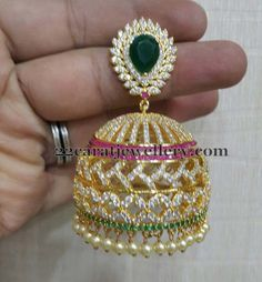Jewellery Designs: Mind blowing Jhumkas in Imitation