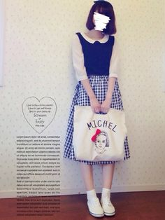 dress ⁂ retro girl ・・・ blouse ⁂ earth music & echology ・・・ bag ⁂ rivet & surge ・・・ shoes ⁂ keds