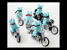 How cute are these peeps riding on motorcycles!    By Rescue Ink