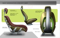 Concept Seat on Behance Car Interior Sketch, Custom Car Interior, Car Interior Design, Car Design Sketch, Automotive Design, Jeep Seats, Car Seats, Ikea Stool, Wrought Iron Patio Chairs