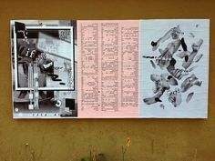 """ficciones-typografika: Ficciones Typografika 061-063 (24""""x36""""). Installed on August 25, 2013. Very pleased to feature (from left to right), Huiqian Wu (2013), Lauren Thorson (2013), and Duoni Wang (2013)"""