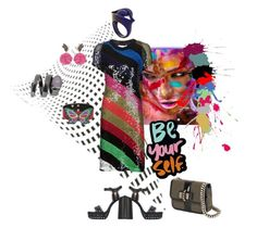 """""""Be yourself!"""" by zabead ❤ liked on Polyvore featuring Lanvin, MAD, Sonia Rykiel, Virzi+De Luca, Manish Arora, Michela Bruni Reichlin and Christian Louboutin"""