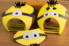 Minion Party Hats Set of 6 Despicable Me by FestivaPartyDesign