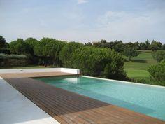 Modern Villa to rent in Sotogrande - Front line Almenara Golf, heating & air-conditioning throughout plus heated infinity pool, stunning views. Golf, Beautiful Villas, Cadiz, Luxury Villa, Real Estate, Outdoor Decor, Swimming Pools, Trendy Tree, Luxury Condo
