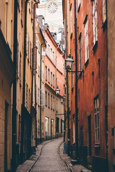 The narrow streets of Gamla Stan - Stockholm, Sweden by freyavev