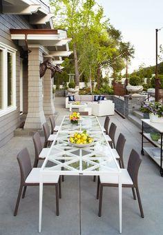 Outdoor patio party.