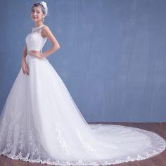 婚纱礼服2015秋冬款新款韩版蕾丝长拖尾齐地双肩显瘦一字肩大码女