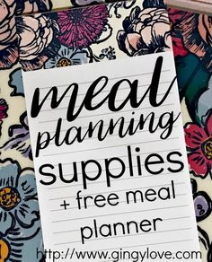 Meal Planning Supplies - Gingy Love
