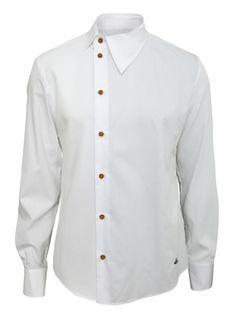 Mens Clothes – Clothing Looks Plain White Shirt, White Shirts, Shirt Collar Styles, Vivienne Westwood Man, Korean Fashion, Mens Fashion, Fashion Tips, Mens Designer Shirts, Gentleman