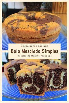 Na dica da hora de hoje vamos mostrar como fazer um Bolo Mesclado Simples e fácil de fazer, fica uma... Top Recipes, Cake Recipes, Dessert Recipes, Cooking Recipes, Portuguese Desserts, Food Cakes, Baked Goods, Sweet Treats, Food And Drink