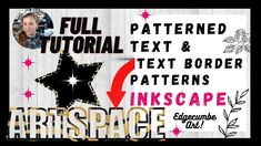 Make Text with a Border Patterned Outline Free in Inkscape - FULL TUTORIAL Border Pattern, Outline, Tutorials, Free, Wizards