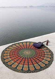 "Hippie Round Mandala Tapestry Indian Wall Hanging Beach Throw Towel Yoga Mat 72"""