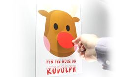 Pin the nose on rudolph the reindeer game for your christmas party