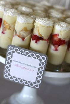 Strawberry Shortcake Shooters . . . yummy and fancy.