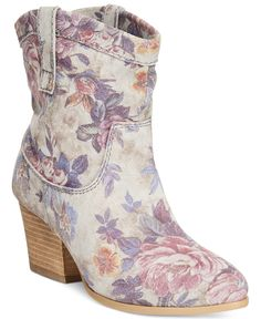 Mojo Moxy Taos Floral Western Booties - Boots - Shoes - Macy's--oh my...these are cute!!!