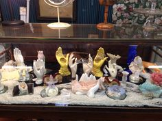 Collection of hands.  Our building in Warrenton. Texas Antique Week.