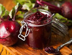 Photo about Beetroot and balsamic chutney in a jar. Image of chutney, ingredient, pickle - 34359165 Chutney, Beetroot, Moscow Mule Mugs, Mason Jars, Vegan, Fruit, Tableware, Glass, Food