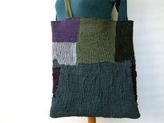 nuno felt large tote bag green vintage leather by gaiagirard