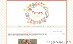 Fancy Free - a super cute blogger template with floral header. Made by me! <3