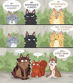 Warrior Cats Funny, Warrior Cats Comics, Warrior Cat Memes, Warrior Cats Books, Warrior Cat Drawings, Warrior Cats Fan Art, Warrior Cats Art, Cat Comics, Warriors Memes
