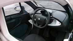 The Twizy's interior is more spacious than you'd expect