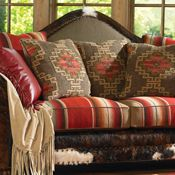 Serape upholstery. Would look great in a rustic log cabin