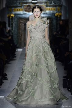 valentino spring 2013 couture one shoulder dress