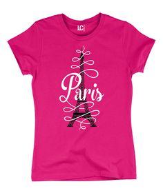 Look at this Hot Pink 'Paris' Crewneck Tee on #zulily today!
