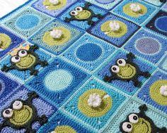 Frog Frenzy pattern on Craftsy.com