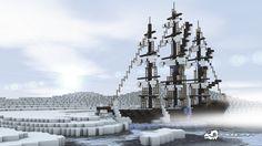 Minecraft Ice Ship