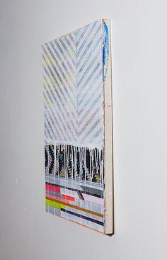 Jennifer Sanchez Original Painting White, Grey & Pink on Panel NY1308