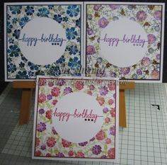 Following on from yesterdays Christmas Card-io cards, I thought the same design would make some useful birthday cards too. So no...