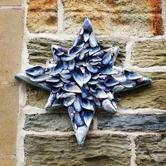 Craft mussel wall decoration - I recognise this from Porth!