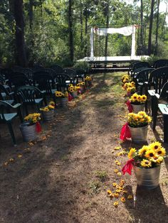 Country wedding outside